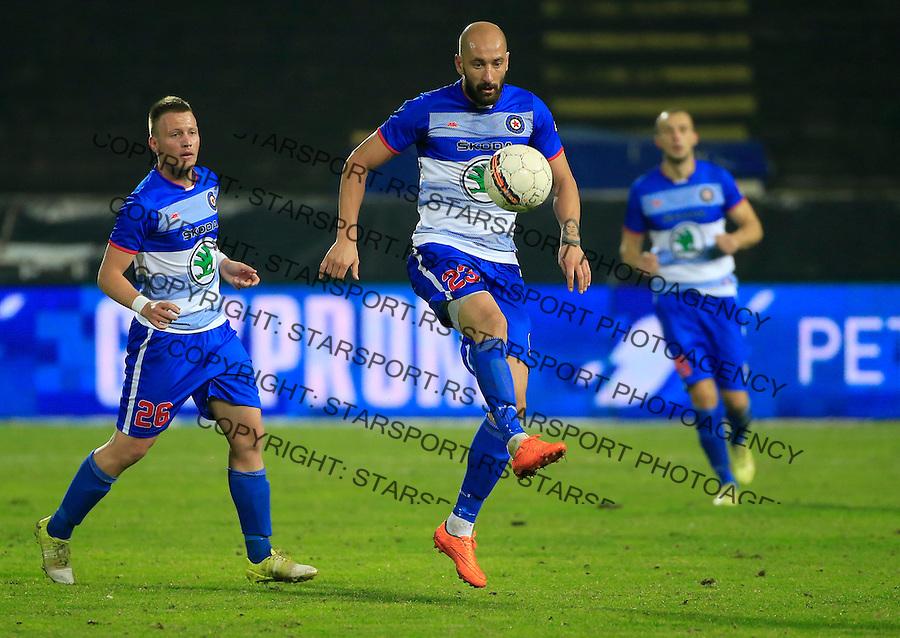 Fudbal Kup Srbije season 2015-2016<br /> Crvena Zvezda v Borac Cacak<br /> Dusan Micic (C) and Stefan Vukmirovic (L)<br /> Beograd, 12.02.2015.<br /> foto: Srdjan Stevanovic/Starsportphoto&copy;