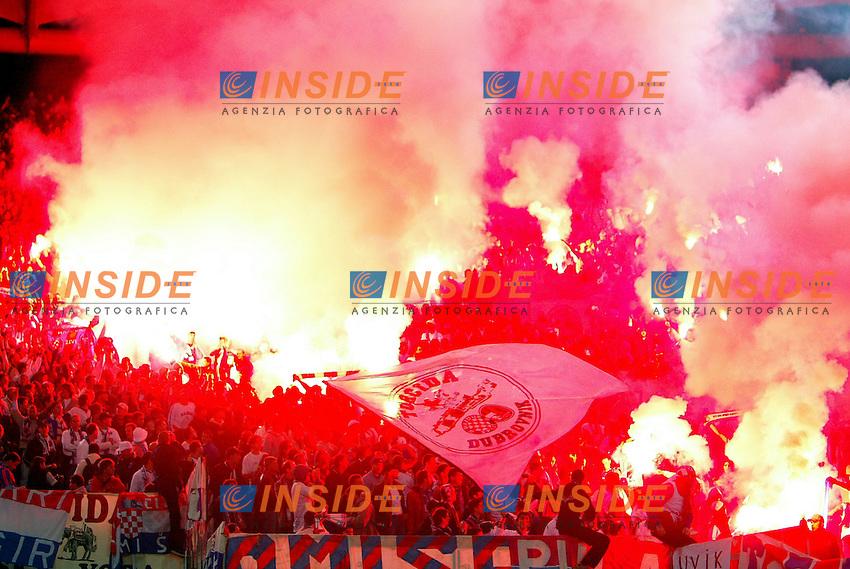 Roma 6/11/2003 Uefa Cup / Coppa Uefa <br /> Roma Hajduk split 1-0 <br /> Hajduk Fans<br /> Foto Andrea Staccioli Insidefoto