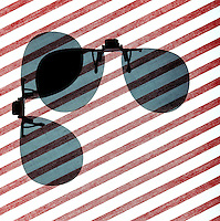 POLARIZED LIGHT<br /> Polarized Sunglass Visors At 90 Degree Angle<br /> (1 of 4)<br /> When lenses are at a 90 degree angle to each other, there is no transmission of light. The intensity of light transmitted through 2 polarizers depends on the relative orientation of their transmission axes.