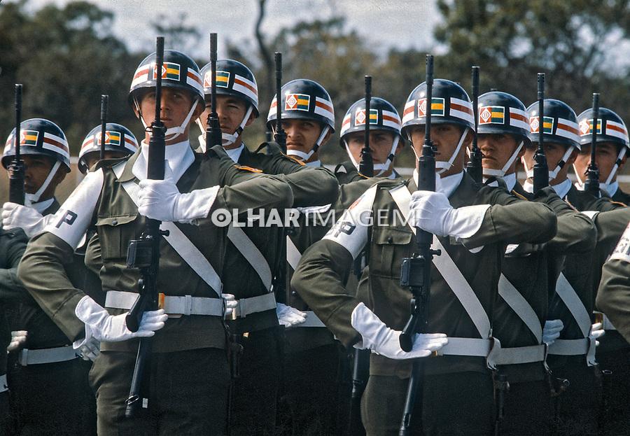 Desfile militar de 7 de setembro, Exercito Brasileiro. Sao Paulo. 1979. Foto de Juca Martins