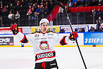 S&ouml;dert&auml;lje 2014-10-23 Ishockey Hockeyallsvenskan S&ouml;dert&auml;lje SK - Malm&ouml; Redhawks :  <br /> Malm&ouml; Redhawks Nils Andersson firar sitt 4-2 m&aring;l under matchen mellan S&ouml;dert&auml;lje SK och Malm&ouml; Redhawks <br /> (Foto: Kenta J&ouml;nsson) Nyckelord: Axa Sports Center Hockey Ishockey S&ouml;dert&auml;lje SK SSK Malm&ouml; Redhawks jubel gl&auml;dje lycka glad happy