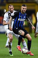 Giorgio Chiellini of Juventus , Mauro Icardi of Internazionale <br /> Milano 27-04-2019 Stadio Giuseppe Meazza <br /> Football Serie A 2018/2019 FC Internazionale - Juventus FC <br /> photo Image Sport / Insidefoto