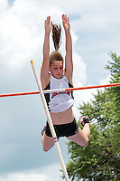 Jackson senior Sierra Maddox clears 12-0 in the pole vault enroute to her second straight Class 4 state title in the event at the 2014 MSHSAA Class 3-4 State Track and Field Championships, Saturday, May 31, in Jefferson City, MO.