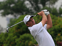 Nicholas Thompson (USA) on the 4th tee during Round 3 of the CIMB Classic in the Kuala Lumpur Golf & Country Club on Saturday 1st November 2014.<br /> Picture:  Thos Caffrey / www.golffile.ie