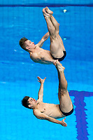 Picture by Rogan Thomson/SWpix.com - 15/07/2017 - Diving - Fina World Championships 2017 -  Duna Arena, Budapest, Hungary - Chris Mears and Jack Laugher of Great Britain compete in the Mens 3m Synchronised Springboard Preliminary.