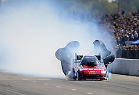 Sept. 29, 2012; Madison, IL, USA: NHRA funny car driver Bob Tasca III during qualifying for the Midwest Nationals at Gateway Motorsports Park. Mandatory Credit: Mark J. Rebilas-