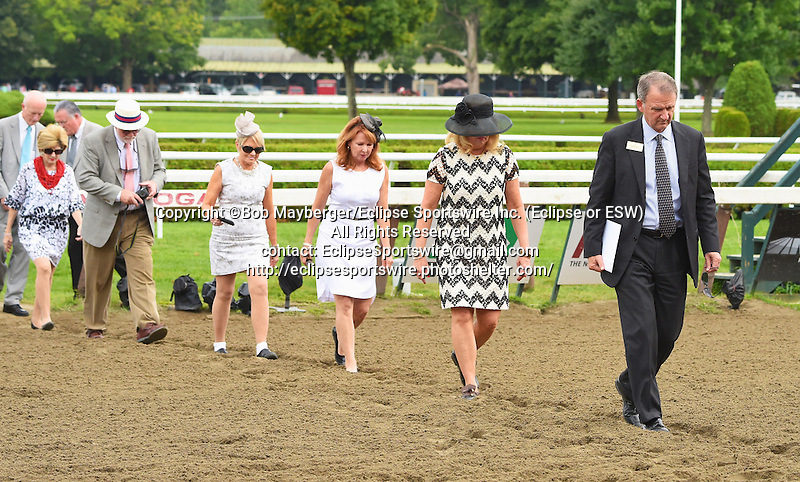 Scenes from around the track on Alabama Stakes Day on August 16, 2014 at Saratoga Race Course in Saratoga Springs, New York.  (Bob Mayberger/Eclipse Sportswire)