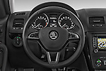 Car pictures of steering wheel view of a 2014 Skoda YETI LAURIN & KLEMENT OUTDOOR 5 Door SUV 4WD Steering Wheel