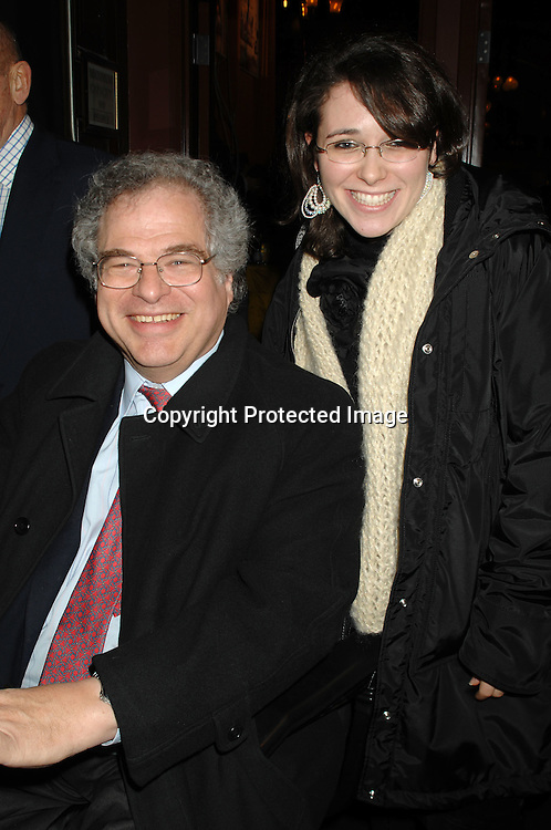 Itzak Pearlman and daughter Ariella..arriving at The 53rd Annual Winter Antiques Show on ..January 18, 2007 at The Seventh Regiment Armory. ..The proceeds benefit East Side House Settlement of the South Bronx. ..Robin Platzer, Twin Images
