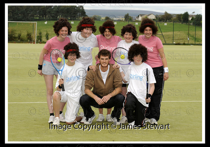 12/09/2008  Copyright Pic: James Stewart.File Name : sct_jspa04_jamie_murray.JAMIE MURRAY IS SURROUNDED BY LITTLE JAMIE MURRAY'S AS HE OPENS DUNBLANE'S NEW HIGH SCHOOL....James Stewart Photo Agency 19 Carronlea Drive, Falkirk. FK2 8DN      Vat Reg No. 607 6932 25.James Stewart Photo Agency 19 Carronlea Drive, Falkirk. FK2 8DN      Vat Reg No. 607 6932 25.Studio      : +44 (0)1324 611191 .Mobile      : +44 (0)7721 416997.E-mail  :  jim@jspa.co.uk.If you require further information then contact Jim Stewart on any of the numbers above........