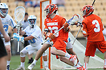 29 April 2016: Syracuse's Parker Ferrigan (23). The University of North Carolina Tar Heels played the Syracuse University Orange at Fifth Third Bank Stadium in Kennesaw, Georgia in a 2016 Atlantic Coast Conference Men's Lacrosse Tournament semifinal match.