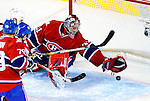 10 February 2010: Montreal Canadiens' goaltender Carey Price gives up a first period goal to the Washington Capitals at the Bell Centre in Montreal, Quebec, Canada. The Canadiens defeated the Capitals 6-5 in sudden death overtime, ending Washington's team-record winning streak at 14 games. Mandatory Credit: Ed Wolfstein Photo