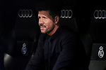 Diego Pablo Simeone coach of Atletico de Madrid during La Liga match between Real Madrid and Atletico de Madrid at Santiago Bernabeu Stadium in Madrid, Spain. February 01, 2020. (ALTERPHOTOS/A. Perez Meca)