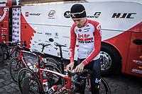 Tiesj Benoot (BEL/Lotto Soudal) pre race<br /> <br /> 117th Paris-Roubaix (1.UWT)<br /> 1 Day Race: Compiègne-Roubaix (257km)<br /> <br /> ©kramon
