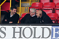 O's new manager on the right Carl Fletcher watches from the stands with Director Matt Porter & Dir of Football Martin Ling during Grimsby Town vs Leyton Orient, Sky Bet EFL League 2 Football at Blundell Park on 19th October 2019