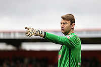 Jamie Jones of Stevenage during the Sky Bet League 2 match between Stevenage and Northampton Town at the Lamex Stadium, Stevenage, England on 19 March 2016. Photo by David Horn / PRiME Media Images.