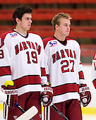 Alex Killorn (Harvard - 19), Michael Biega (Harvard - 27) - Sweden's Under-20 team defeated the Harvard University Crimson 2-1 on Monday, November 1, 2010, at Bright Hockey Center in Cambridge, Massachusetts.