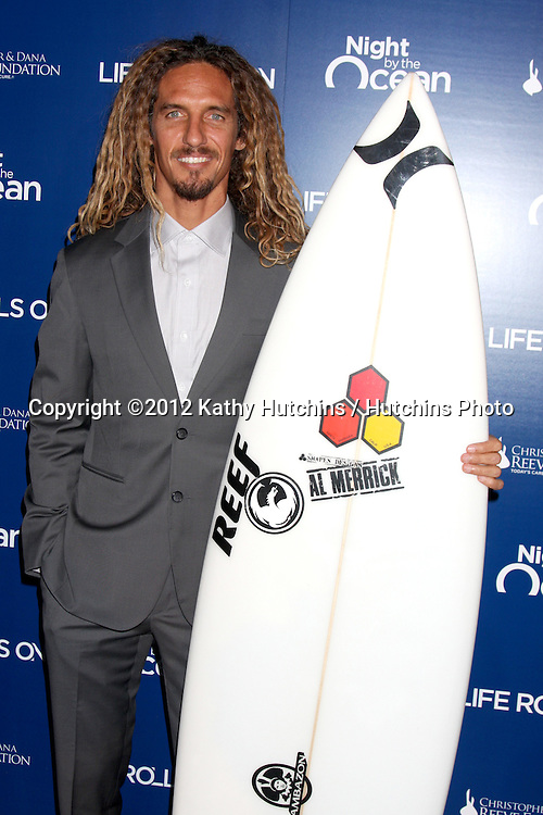 LOS ANGELES - NOV 11:  Rob Machado arrives at the Life Rolls On Foundation's 9th Annual Night By The Ocean at The Ritz-Carlton on November 11, 2012 in Marina del Rey, CA