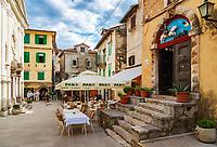 Croatia, Kvarner Gulf, Opatija, district Lovran: historic centre | Kroatien, Kvarner Bucht, Opatija, Ortsteil Lovran: historischer Ortskern