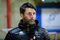 Lincoln City manager Danny Cowley during the pre-match warm-up<br /> <br /> Photographer Andrew Vaughan/CameraSport<br /> <br /> The EFL Checkatrade Trophy Second Round - Accrington Stanley v Lincoln City - Crown Ground - Accrington<br />  <br /> World Copyright &copy; 2018 CameraSport. All rights reserved. 43 Linden Ave. Countesthorpe. Leicester. England. LE8 5PG - Tel: +44 (0) 116 277 4147 - admin@camerasport.com - www.camerasport.com