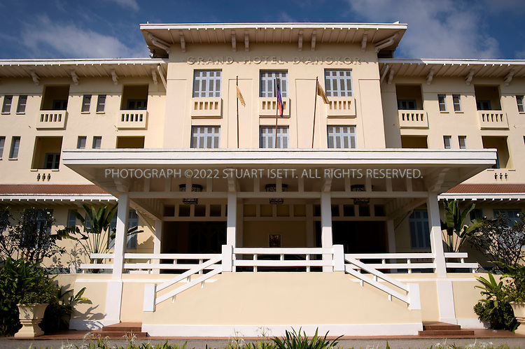 11/28/2008--Siem Reap Province, Cambodia..The Grand Hotel d?Angkor has been sheltering guests like Charlie Chaplin, Jackie Kennedy, and Bill Clinton since 1929, but the town of Siem Reap was until recently little more than a dusty afterthought to Angkor Wat?s grandeur. ..©2008 Stuart Isett. All rights reserved.