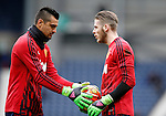 Sergio Romero of Manchester United with David De Gea of Manchester United - English Premier League - West Bromwich Albion vs Manchester Utd - The Hawthorns Stadium - West Bromwich - England - 6th March 2016 - Picture Simon Bellis/Sportimage