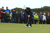 Emily Toy (ENG) on the 16th green during the Matchplay Final of the Women's Amateur Championship at Royal County Down Golf Club in Newcastle Co. Down on Saturday 15th June 2019.<br /> Picture:  Thos Caffrey / www.golffile.ie