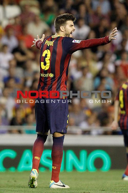 FC Barcelona's Gerard Pique during La Liga match.September 1,2013. Foto © nph / Acero)