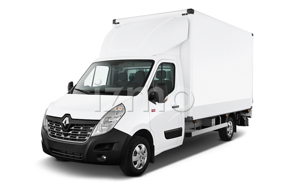 2019 Renault Master Base 4 Door Cargo Van angular front stock photos of front three quarter view