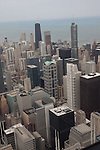 Downtown Chicago skyline from the Willis Tower Skydeck, Chicago, IL