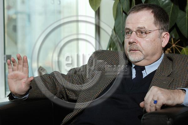 BRUSSELS - BELGIUM - 16 FEBUARY 2004-- Franz - Hermann BRÜNER (Bruener) the Director General of the European Anti-Fraud Office, OLAF, in his office. -- PHOTO: JUHA ROININEN / EUP-IMAGES