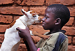 Mleza Gondwe, 10, helps his family care for goats in Chigumba, a village in northern Malawi which has been hit hard by drought and hunger. The ACT Alliance is helping residents of this community discover new ways to grow more food, thus achieving food security for their families, as well as supporting the raising of goats as a source of food and income.