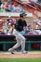 Akron RubberDucks right fielder Taylor Murphy (25) at bat during a game against the Erie SeaWolves on August 27, 2017 at UPMC Park in Erie, Pennsylvania.  Akron defeated Erie 6-4.  (Mike Janes/Four Seam Images)