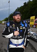 Jun 18, 2017; Bristol, TN, USA; NHRA top fuel driver Shawn Langdon during the Thunder Valley Nationals at Bristol Dragway. Mandatory Credit: Mark J. Rebilas-USA TODAY Sports