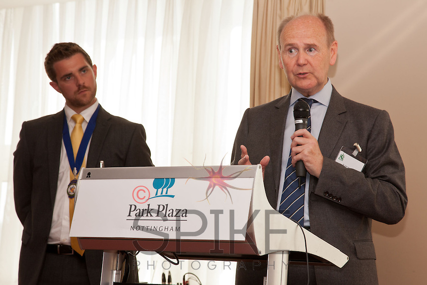 Keynote speaker Sir John Pearce, the  Lord-Lieutenant of Nottinghamshire