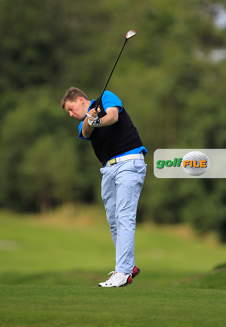 Ben Murray (Waterford Castle) on the 4th tee during Day 1of the Irish Youths Amateur Close Championship at Claremorris Golf Club on Wednesday 28th August 2013 <br /> Picture:  Thos Caffrey/ www.golffile.ie