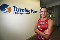July 19.  2019. San Diego, CA. | Athena Countouriotis CEO of Turning Point Therapeutics. | Photos by Jamie Scott Lytle. Copyright.