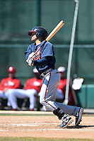 Atlanta Braves outfielder Justin Black (26) during a minor league spring training game against the Washington Nationals on March 26, 2014 at Wide World of Sports in Orlando, Florida.  (Mike Janes/Four Seam Images)