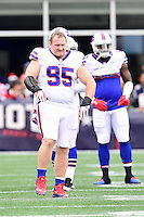 Sunday, October 2, 2016: Buffalo Bills defensive end Kyle Williams (95) prepares for the NFL game between the Buffalo Bills and the New England Patriots held at Gillette Stadium in Foxborough Massachusetts. Buffalo defeats New England 16-0. Eric Canha/Cal Sport Media