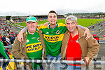 Pictured at the Kerry v Cork Munster Final in Fitzgerald Stadium, Killarney on Saturday evening were l-r: John O'Connell and Sean O'Connell (Farranfore) with Michael Anderson (Ballincollig).