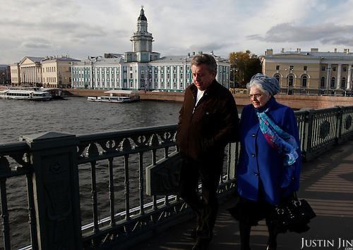 Old people in St Petersburg.