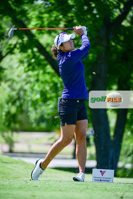 Marina Alex (USA) watches her tee shot on 13 during round 1 of  the Volunteers of America Texas Shootout Presented by JTBC, at the Las Colinas Country Club in Irving, Texas, USA. 4/27/2017.<br /> Picture: Golffile | Ken Murray<br /> <br /> <br /> All photo usage must carry mandatory copyright credit (&copy; Golffile | Ken Murray)