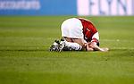 Nederland, Alkmaar, 5 maart 2009..KNVB Beker.Seizoen 2008-2009.AZ-NAC (1-2).Aanvoerder Stijn Schaars van AZ baalt na de nederlaag tegen NAC