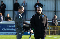 Bury caretaker manger Ryan Lowe (L) during Woking vs Bury, Emirates FA Cup Football at The Laithwaite Community Stadium on 5th November 2017