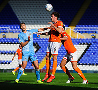Blackpool's Ben Heneghan vies for possession with Coventry City's Michael Rose<br /> <br /> Photographer Chris Vaughan/CameraSport<br /> <br /> The EFL Sky Bet League One - Coventry City v Blackpool - Saturday 7th September 2019 - St Andrew's - Birmingham<br /> <br /> World Copyright © 2019 CameraSport. All rights reserved. 43 Linden Ave. Countesthorpe. Leicester. England. LE8 5PG - Tel: +44 (0) 116 277 4147 - admin@camerasport.com - www.camerasport.com