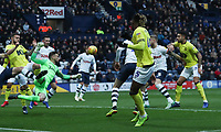 Blackburn Rovers' Kasey Palmer has an attempt at goal<br /> <br /> Photographer Rachel Holborn/CameraSport<br /> <br /> The EFL Sky Bet Championship - Preston North End v Blackburn Rovers - Saturday 24th November 2018 - Deepdale Stadium - Preston<br /> <br /> World Copyright © 2018 CameraSport. All rights reserved. 43 Linden Ave. Countesthorpe. Leicester. England. LE8 5PG - Tel: +44 (0) 116 277 4147 - admin@camerasport.com - www.camerasport.com