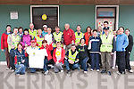 Hospice: Pictured at St Patricks Hall, Listowel, on Friday morning are the participants in the charity walk for The Irish Hospice Foundation.