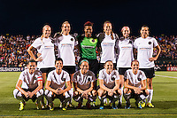 Portland Thorns starting eleven. The Portland Thorns defeated the Western New York Flash 2-0 during the National Women's Soccer League (NWSL) finals at Sahlen's Stadium in Rochester, NY, on August 31, 2013.