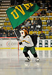 30 October 2010: University of Vermont Catamount mascot Rally Cat skates prior to a game against the University of Maine Black Bears at Gutterson Fieldhouse in Burlington, Vermont. The Black Bears defeated the Catamounts 3-2 in sudden death overtime. Mandatory Credit: Ed Wolfstein Photo