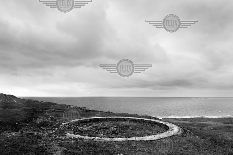 Remnants of defensive structures used by the German Army are visible on a hill above a beach in Norway along the route of the Atlantic Wall (Atlantikwall in German).The Atlantic Wall (or Atlantikwall in German) was a system of defensive structures built by Nazi Germany between 1942 and 1945, stretching over 1,670 miles (2,690 km) along the coast from the North of Norway to the border between France and Spain at the Pyrenees. The wall was intended to repulse an Allied attack on Nazi-occupied Europe and the largest concentration of structures was along the French coast since an invasion from Great Britain was assumed to be most likely. Slave labour and locals paid a minimum wage were drafted in to supply much of the labour. There are still thousands of ruined structures along the Atlantic coast in all countries where the wall stood except for Germany, where the bunkers were completely dismantled.